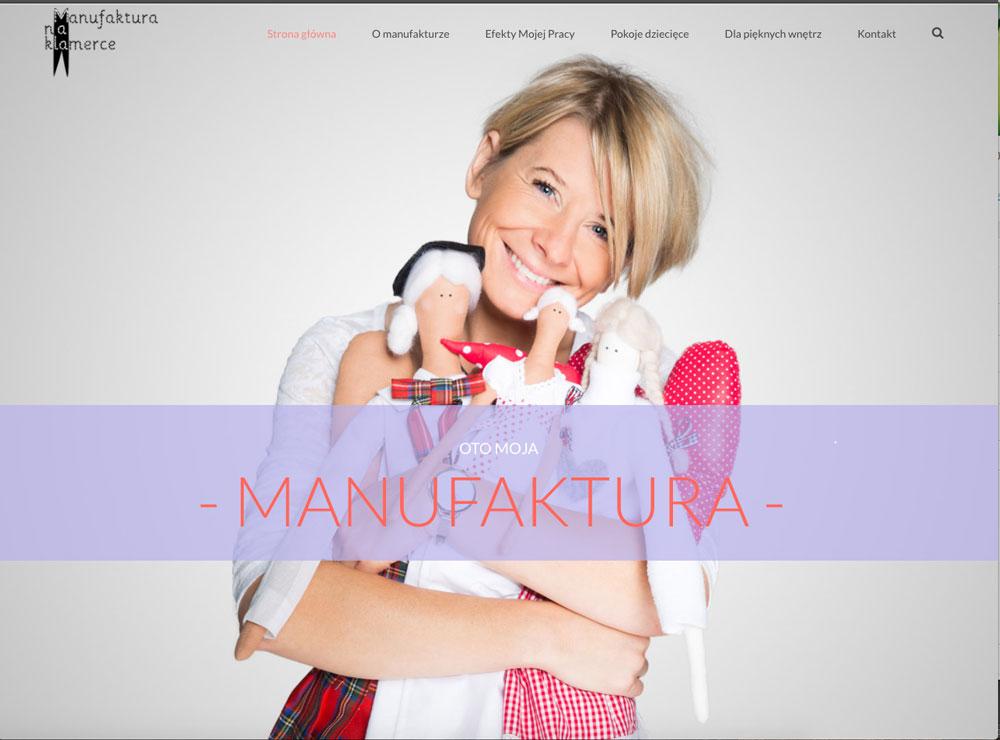 strona internetowa manufaktura na klamerce programista do wynajecia