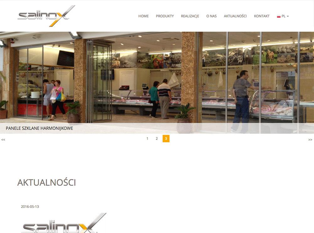 strona internetowa salinox programista do wynajecia