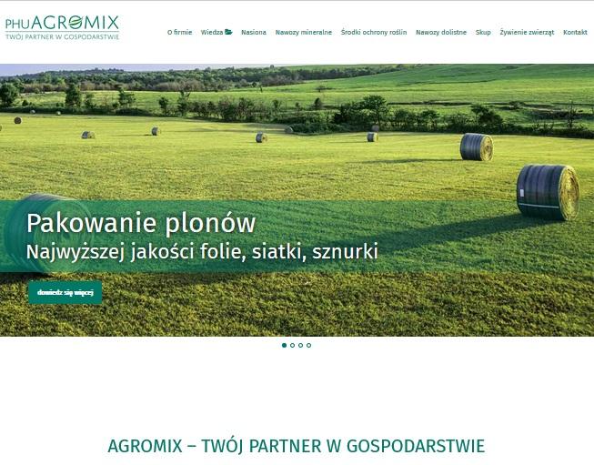 strona internetowa agromix programista do wynajecia