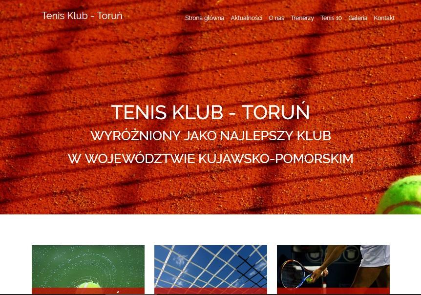 strona internetowa tenis klub toruń programista do wynajecia