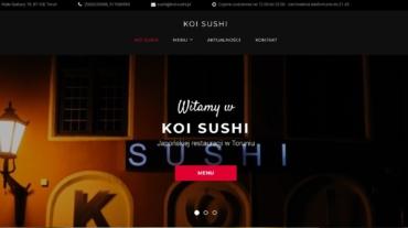 strona internetowa Koi Sushi programistadowynajecia